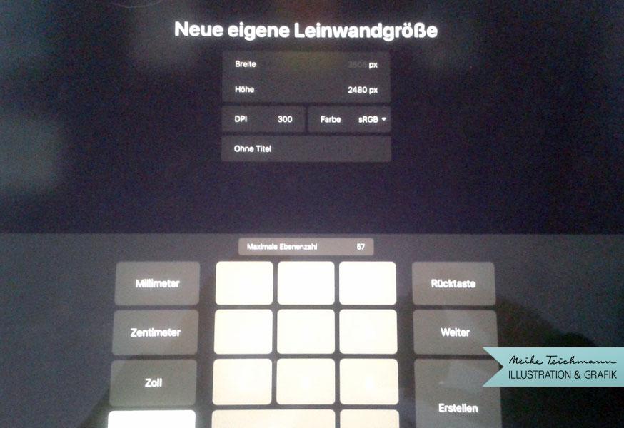 Arbeiten mit Procreate am iPad | Meike Teichmann