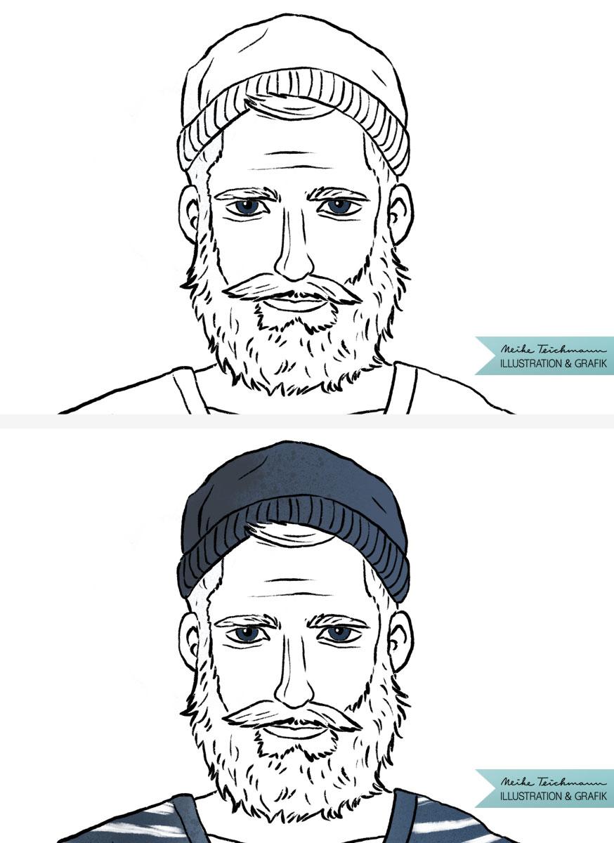 Meeresrauschen Illustration, die Zeichnung