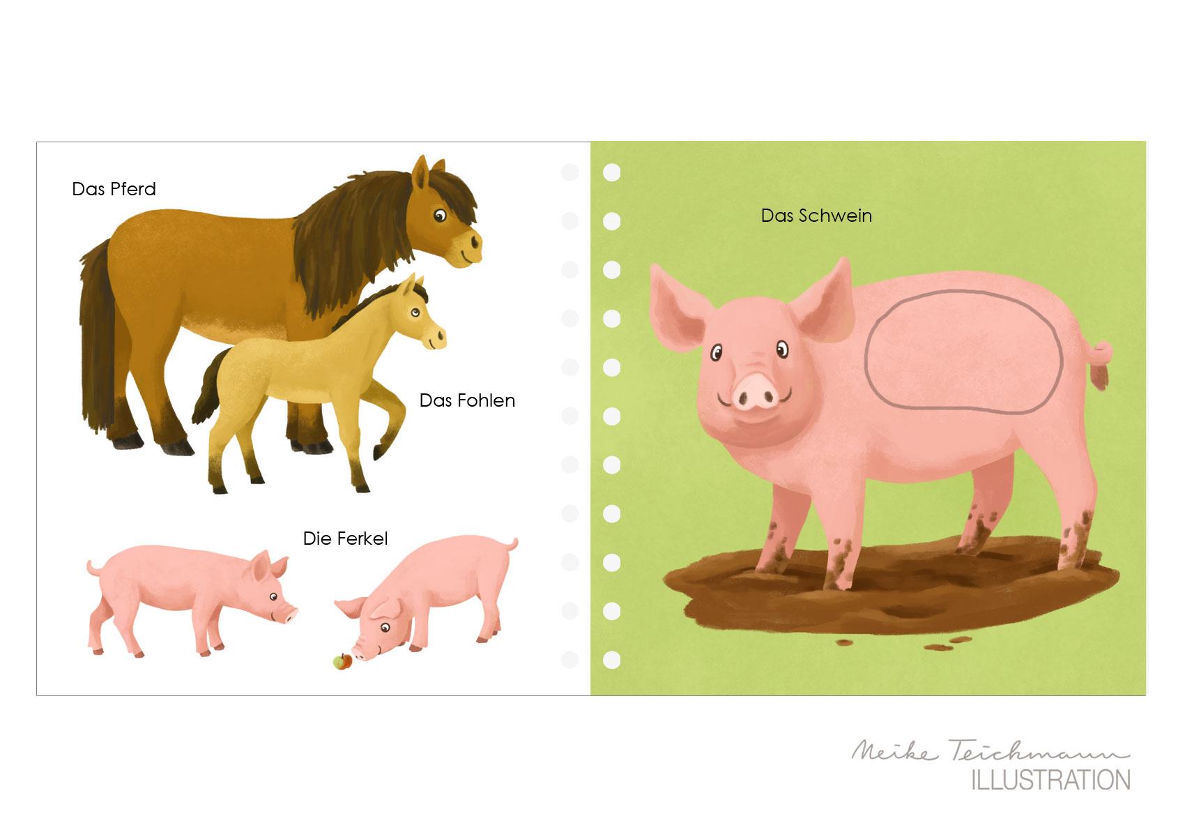 Fühlwörterbuch Bauernhoftiere
