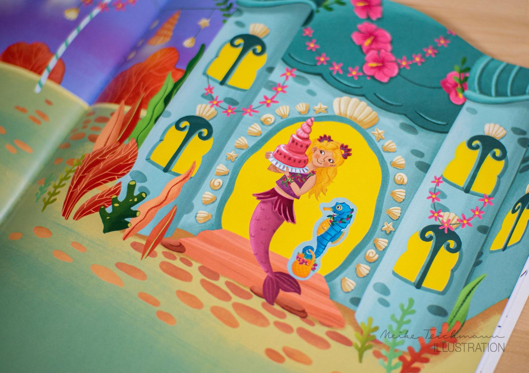Sticker-Album mit Meerjungfrauen