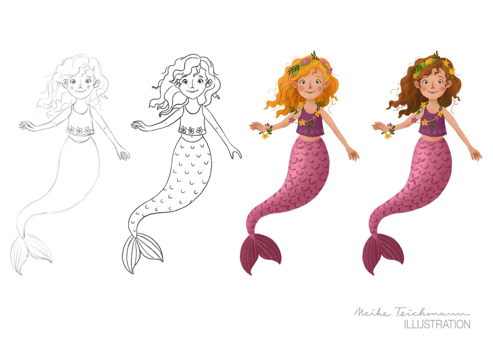 Entwicklung Meerjungfrauen