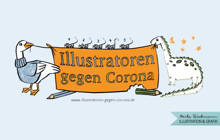 Logo Illustratoren-gegen-Corona