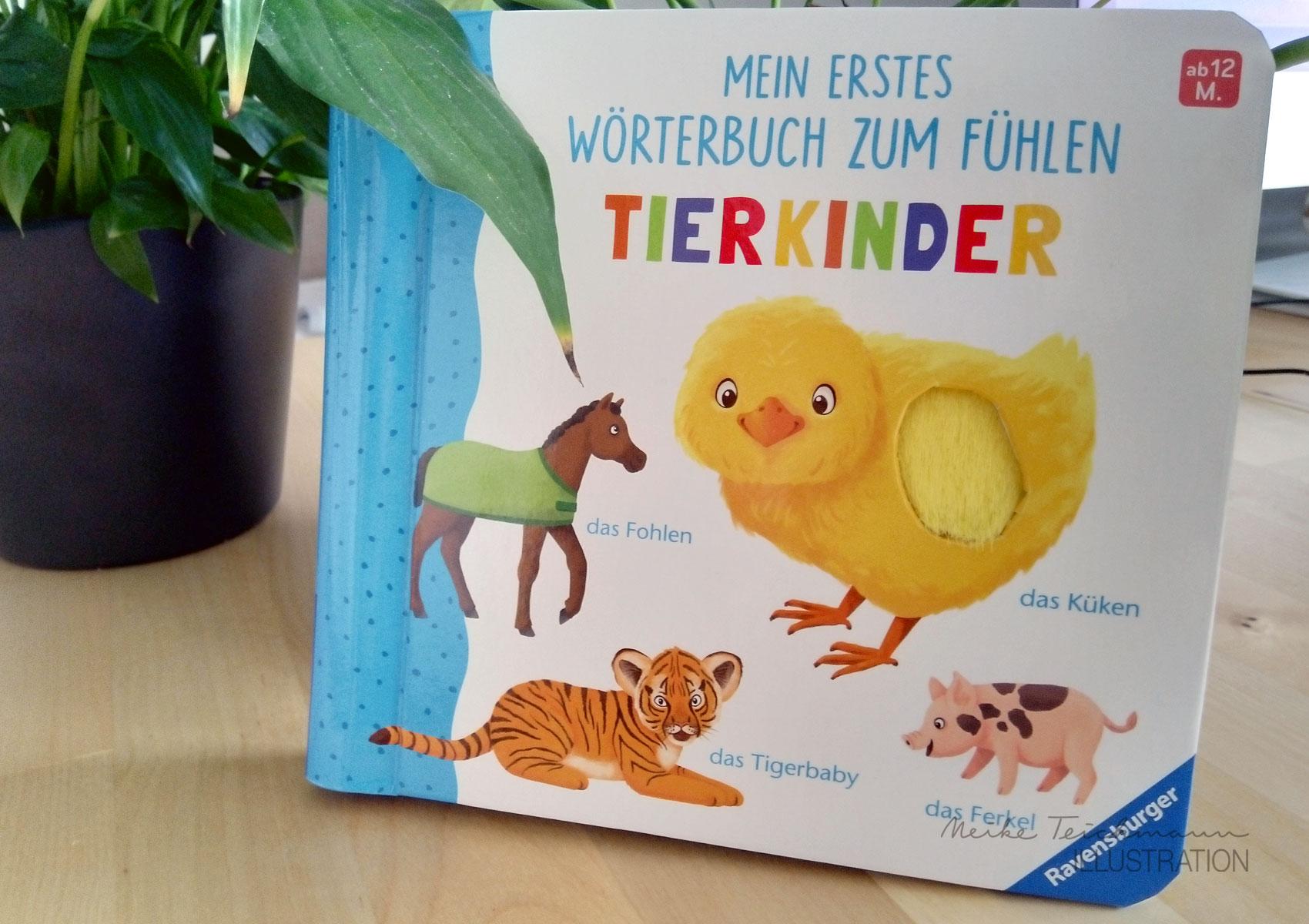 Fühlwörterbuch Tierkinder Cover