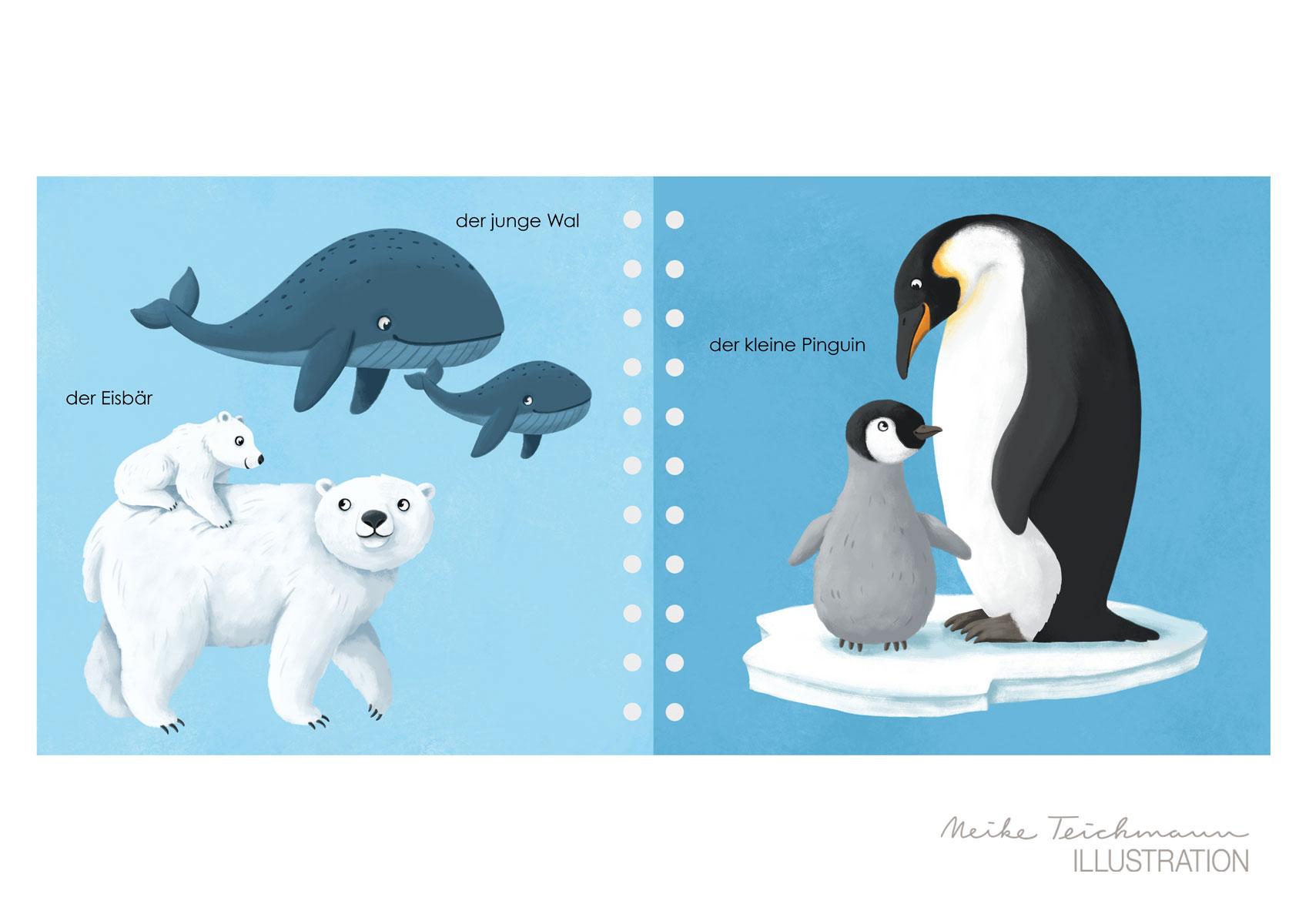 Fühlwörterbuch Tierkinder Innenseiten
