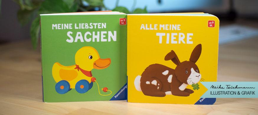 4 Pappbücher für Ravensburger