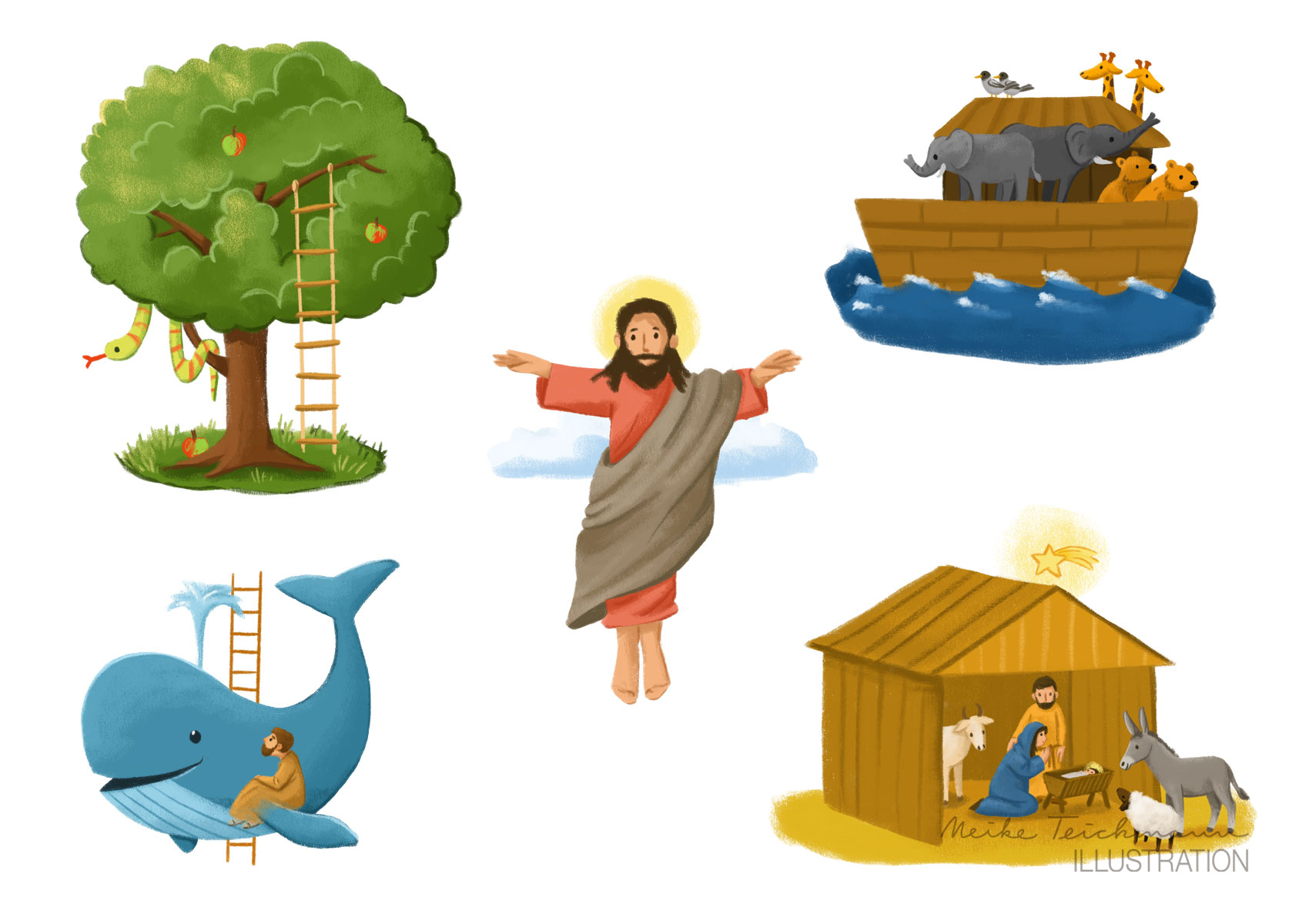 Einzelillustrationen Biblisches Spiel