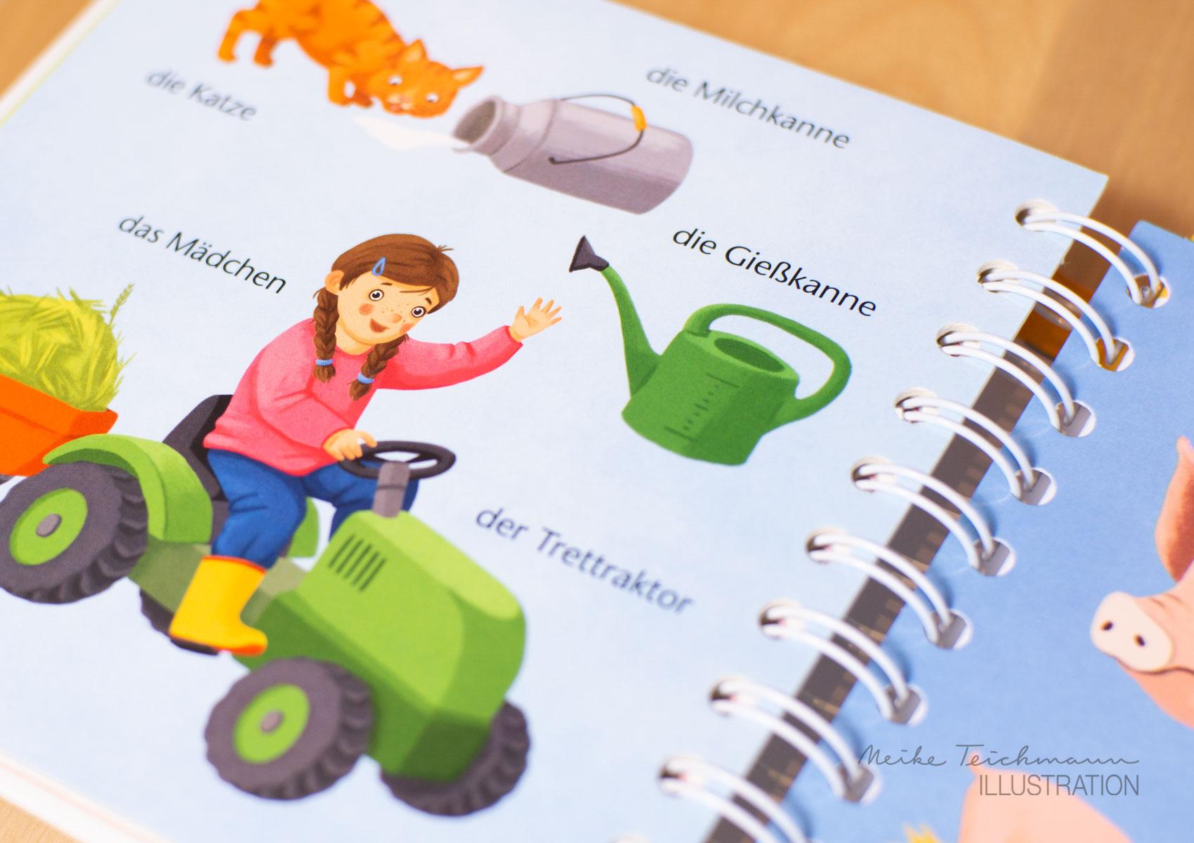 Auf dem Traktor, Fühlwörterbuch