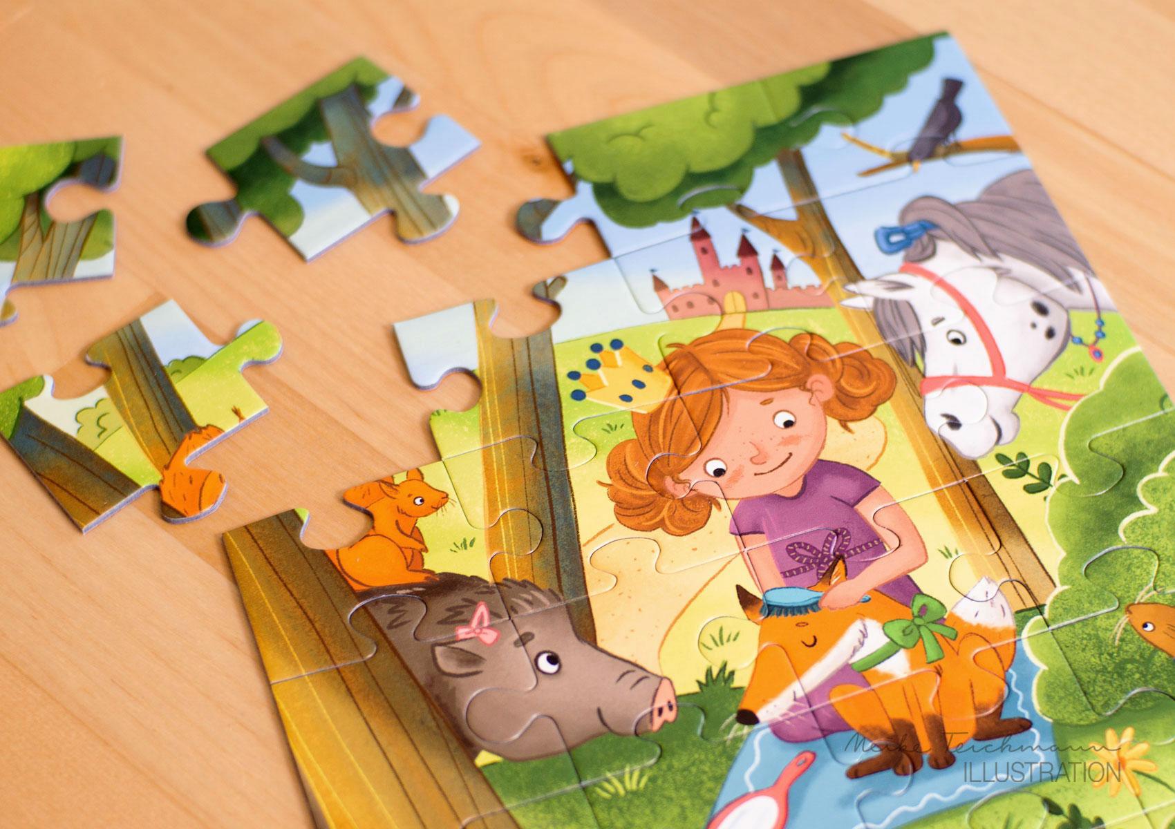 Puzzle Prinzessin im Wald