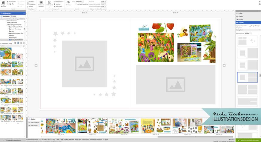 Saal Digital Fotobuch Layout