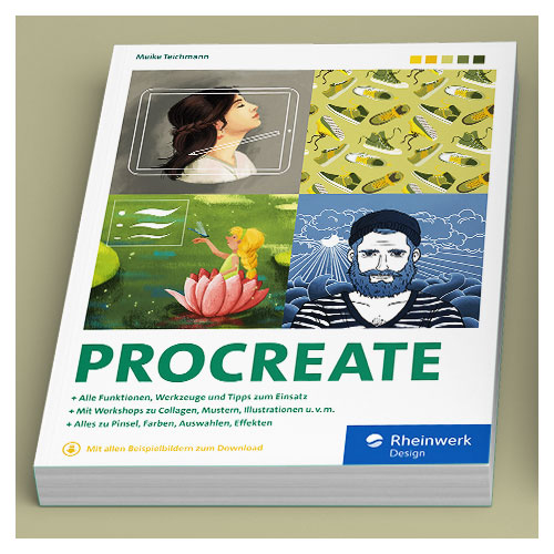 Handbuch Procreate für den Rheinwerk Verlag